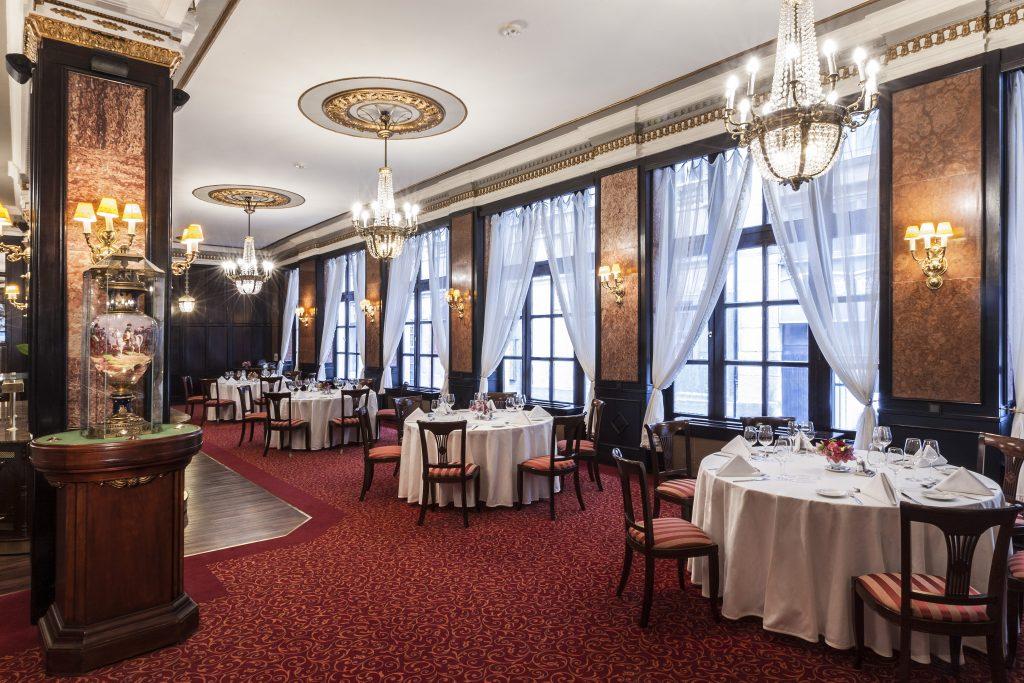 elegant wedding dinner in a fancy setting