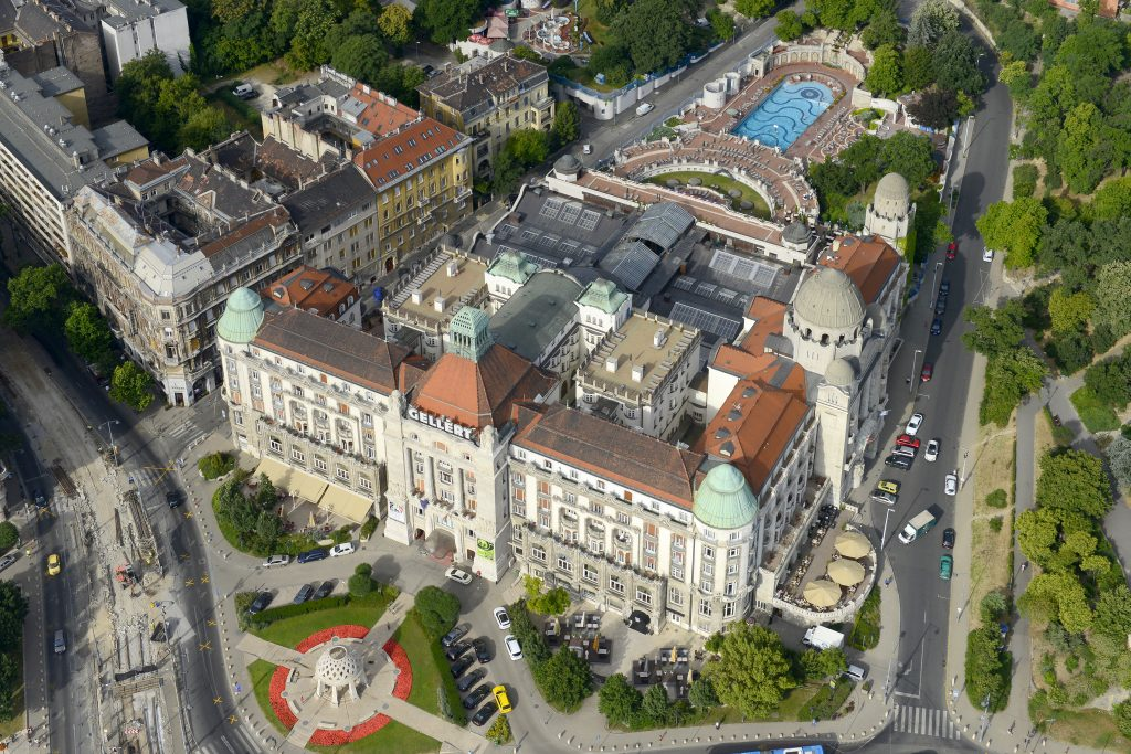 Gellert Thermal Bath Drone Photo