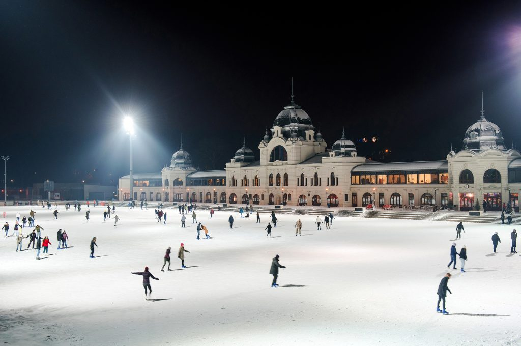 Budapest Outdoor Ice Rink in the City Park (Városliget)