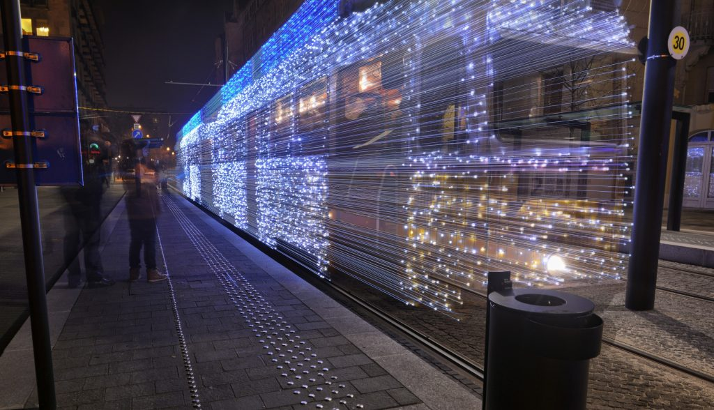 Tram with 30 000 LED Lights