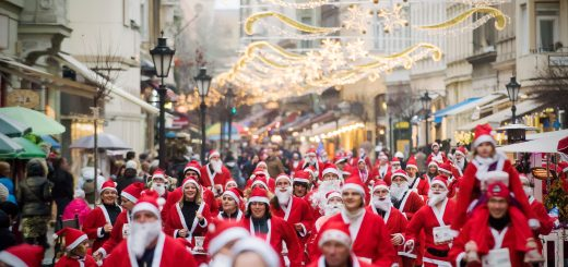 Santa run - Budapest in December