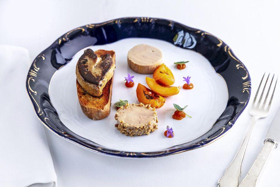 libamáj, goose liver at Gundel Restaurant