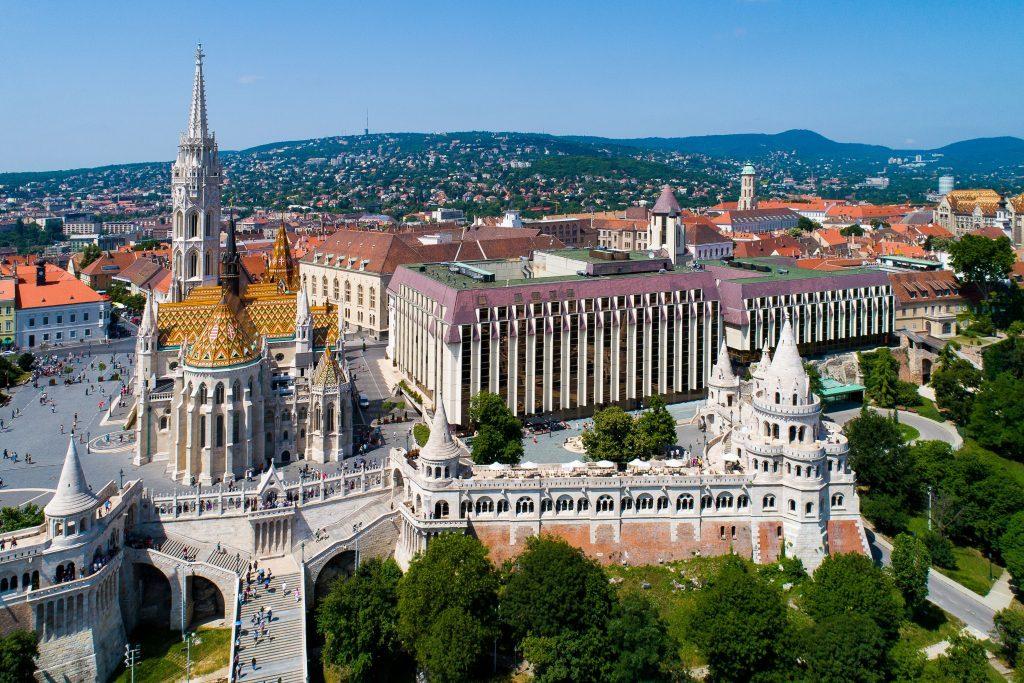 Hilton Budapest drone photo