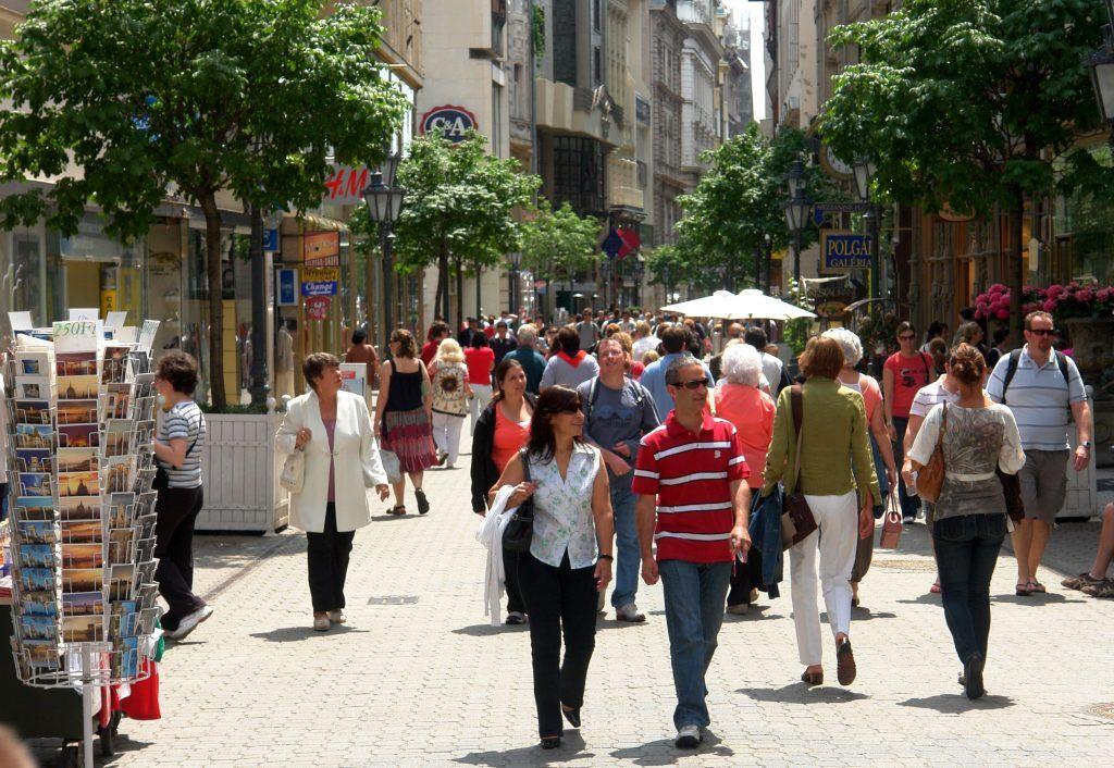 Vaci Street: The main tourist street of Budapest