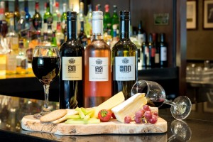 J Anderson Wine and cheese platter