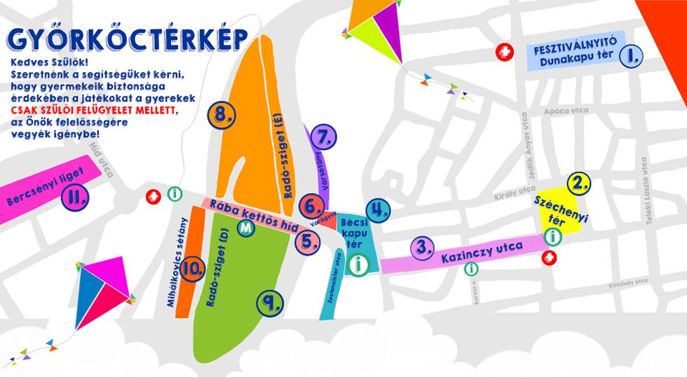 Győrkőcfesztivál 2016 térképe