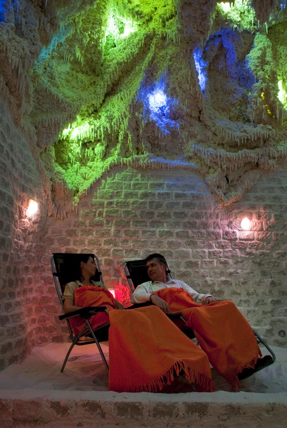 Pihenés a sóbarlangban