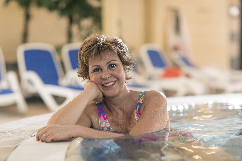 Nyugdíjas pillanatok a termálfürdőben
