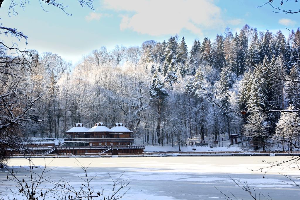 Medve-tó télen szilveszterkor
