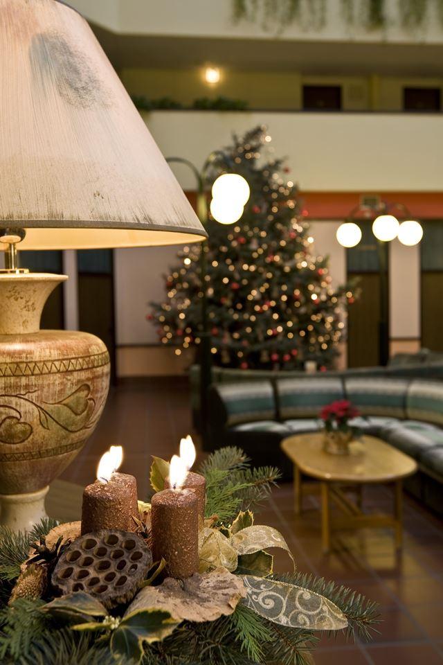 Karácsonyi dekoráció a szállodában