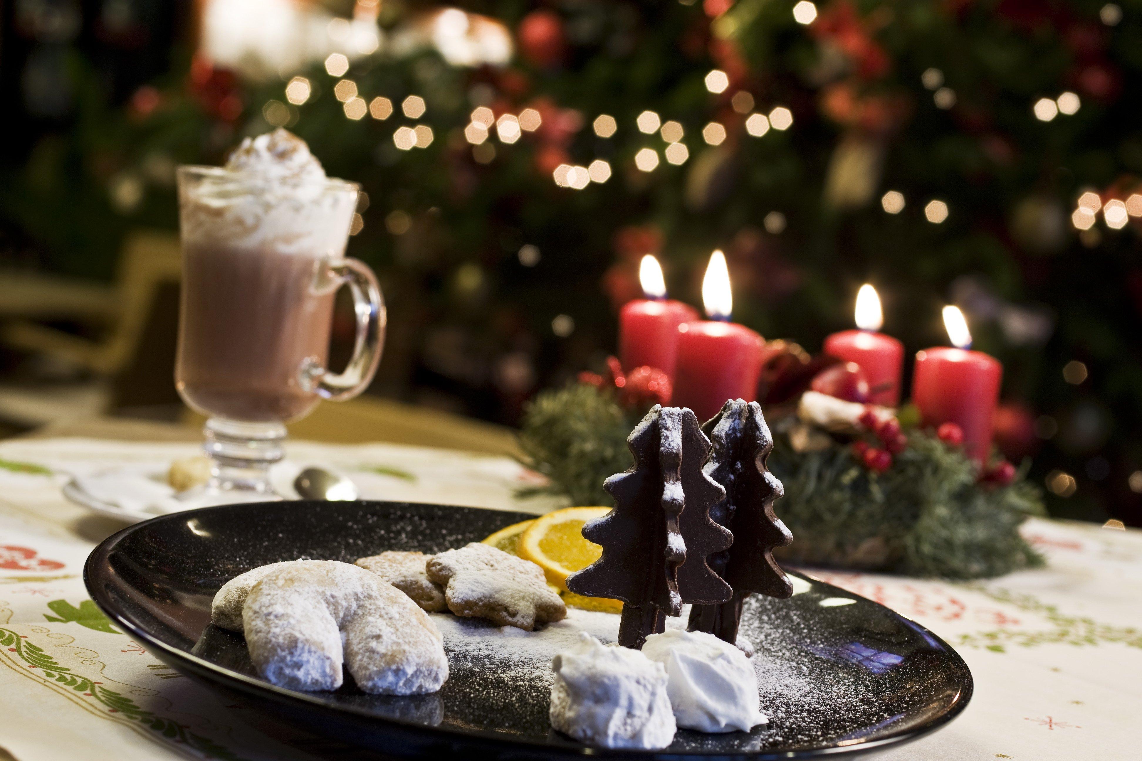Karácsonyi terített asztal Bükfürdőn