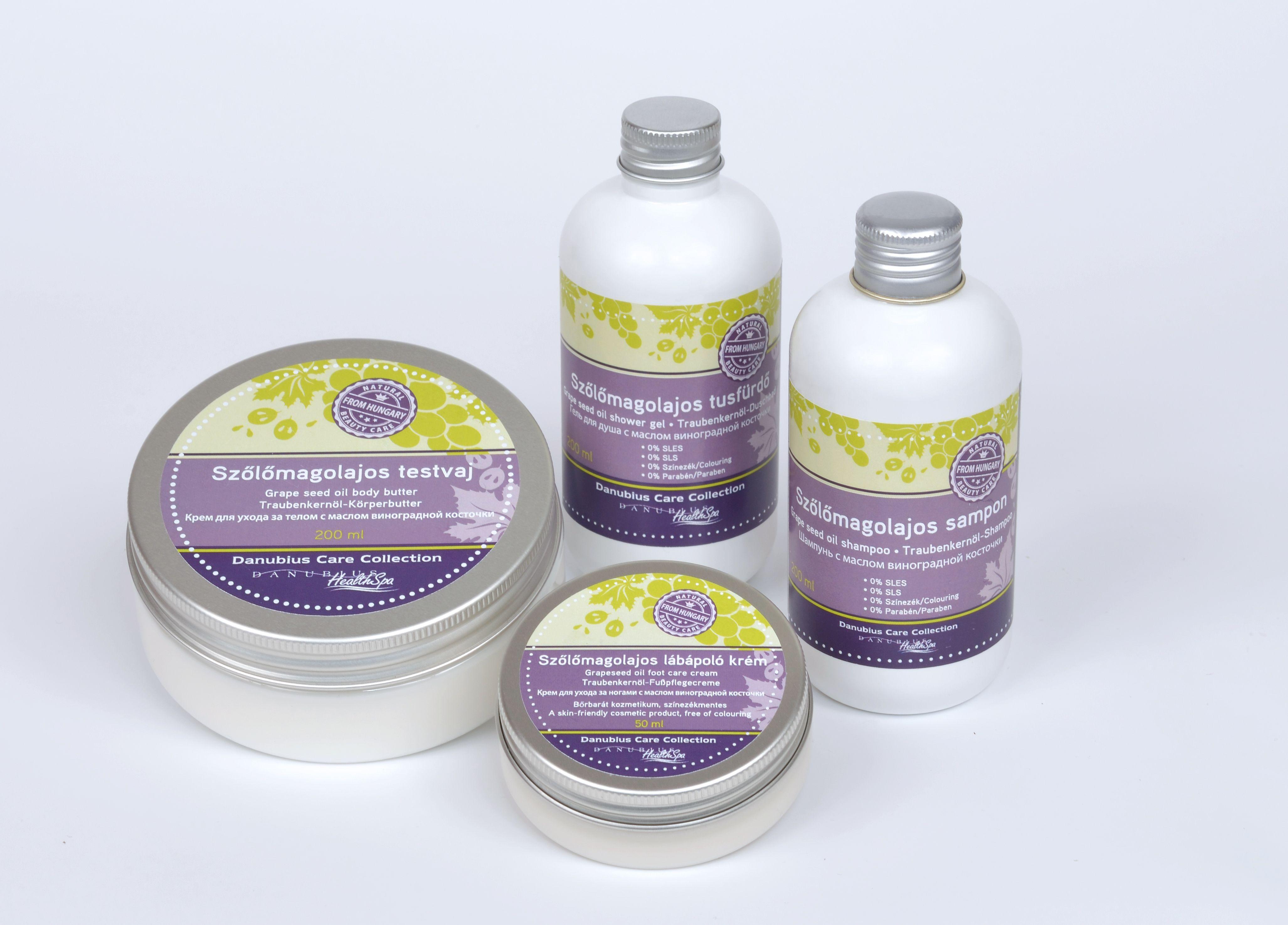Danubius Care Collection szőlőmagolajos termékcsalád