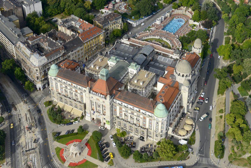 Gellért Hotel és Gyógyfürdő drone felvétel