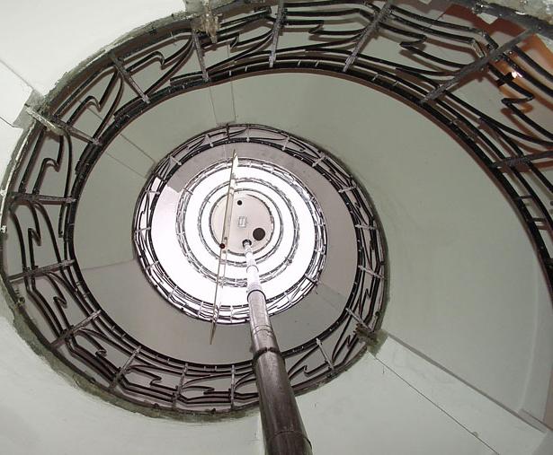A műemlék Víztorony lépcsőháza