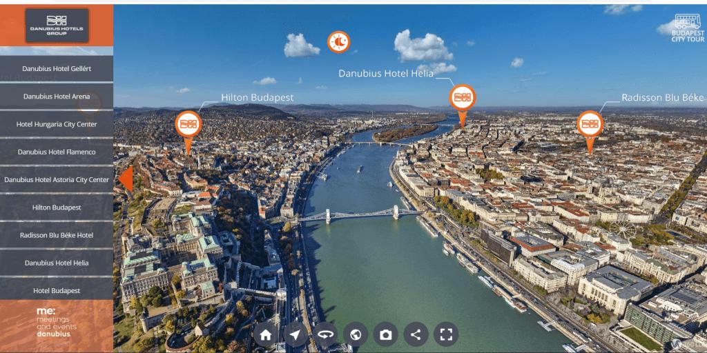 360 fokos Virtuális Budapest túra