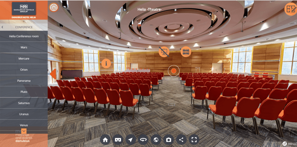 Danubius Hotel Helia konferencia terem 360 VR
