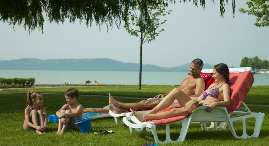 Beach+with+park - Hotel+Annabella - hotel Balatonf%C3%BCred