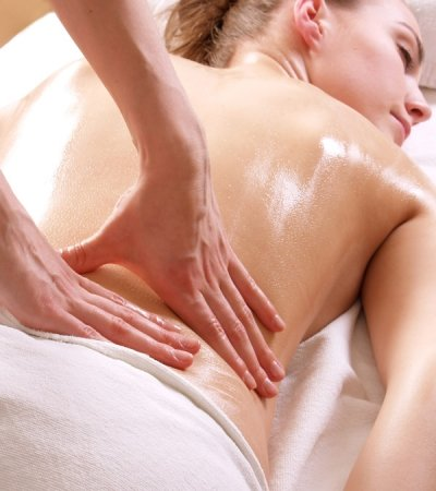 Body Massage with Grape Seed Oil